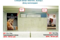 """Станция метро """"Восток"""" ( выход к Дому милосердия)"""