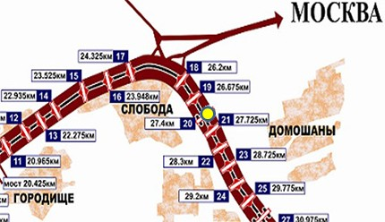 Схема размещения ЩРК №20 (27,4 км)
